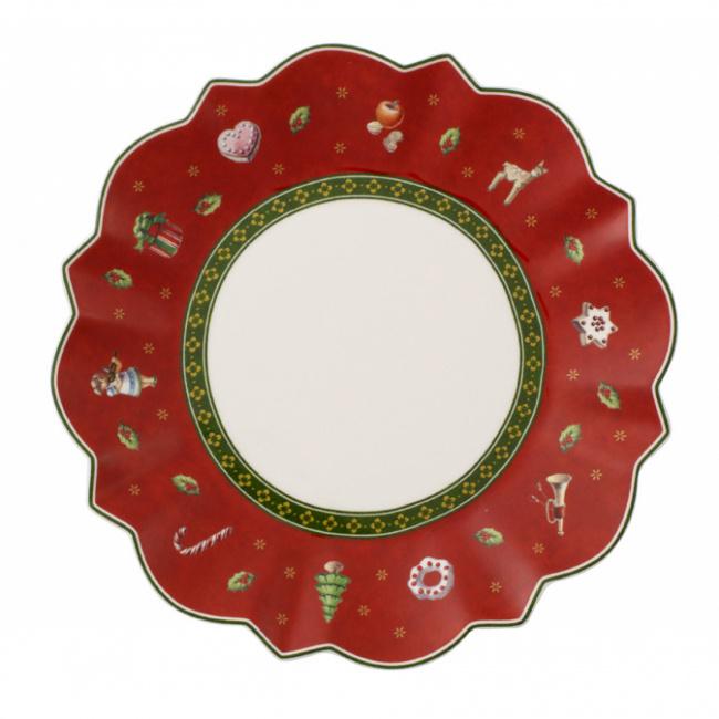 Talerz Toy's Delight 17cm deserowy czerwony