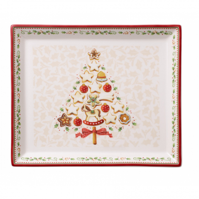 Talerz Winter Bakery Delight 27x22,5cm choinka