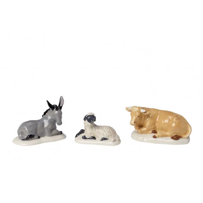 Komplet 3 figurki Nativity zwierzęta