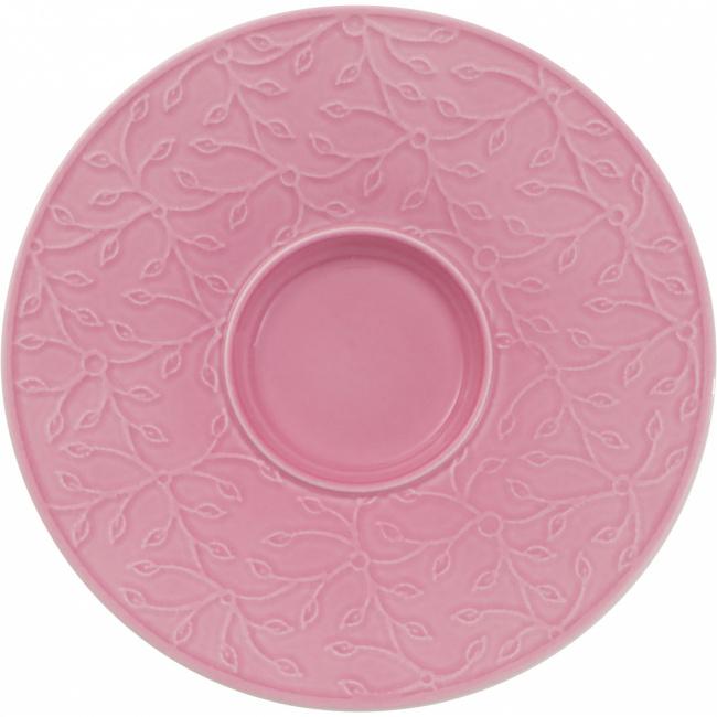 Spodek Caffé Club Floral Touch of Rose 17cm do filiżanki śniadaniowej
