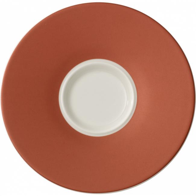 Spodek Caffe Club Uni Oak 17cm do filiżanki śniadaniowej