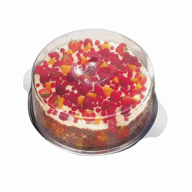 Taca 30cm z pokrywą do ciast i tortów