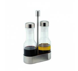 Komplet butelek do oliwy i octu na stojaku