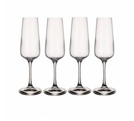Komplet 4 kieliszków Ovid 250ml do szampana