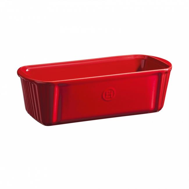 Naczynie Loaf 31x13cm do zapiekania prostokątne czerwone