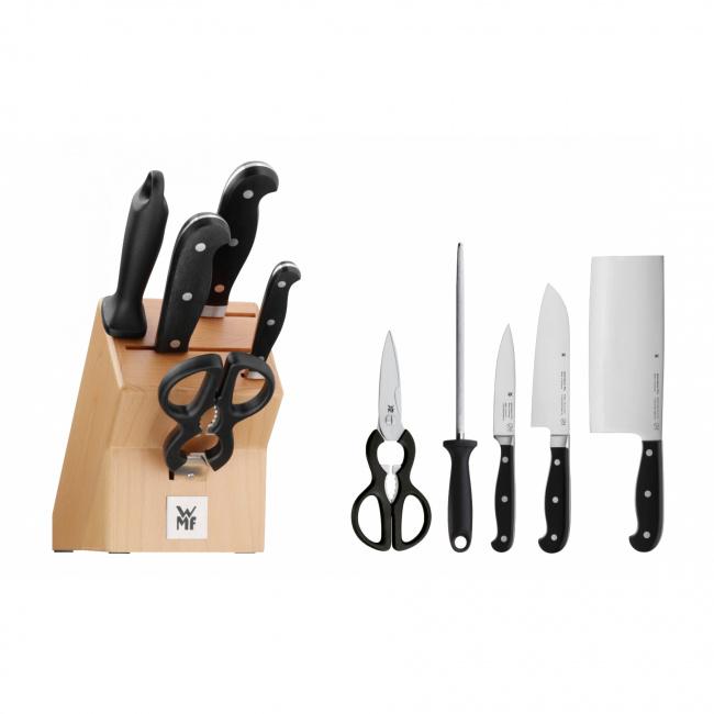 Zestaw 3 noży  w bloku Spitzenklasse Plus + ostrzałka + nożyczki