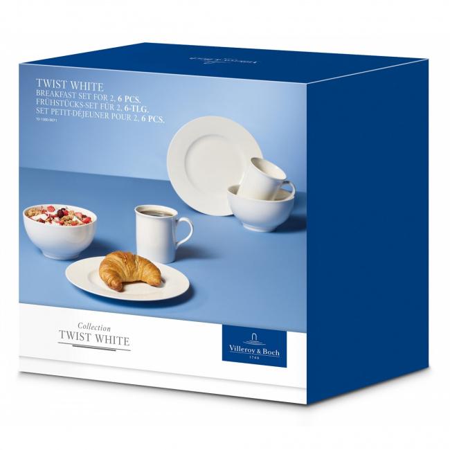 Zestaw śniadaniowy Twist White 6el.