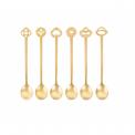 Komplet 6 łyżeczek Party Oriental gold