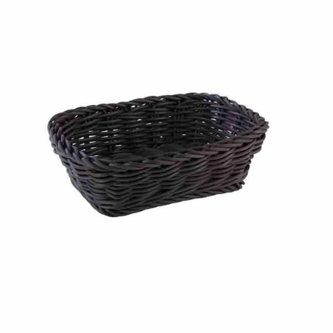 Koszyk polirattanowy Profi Line 19x13cm czarny