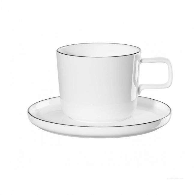 Filiżanka ze spodkiem a'Table Oco Ligne 200ml do kawy