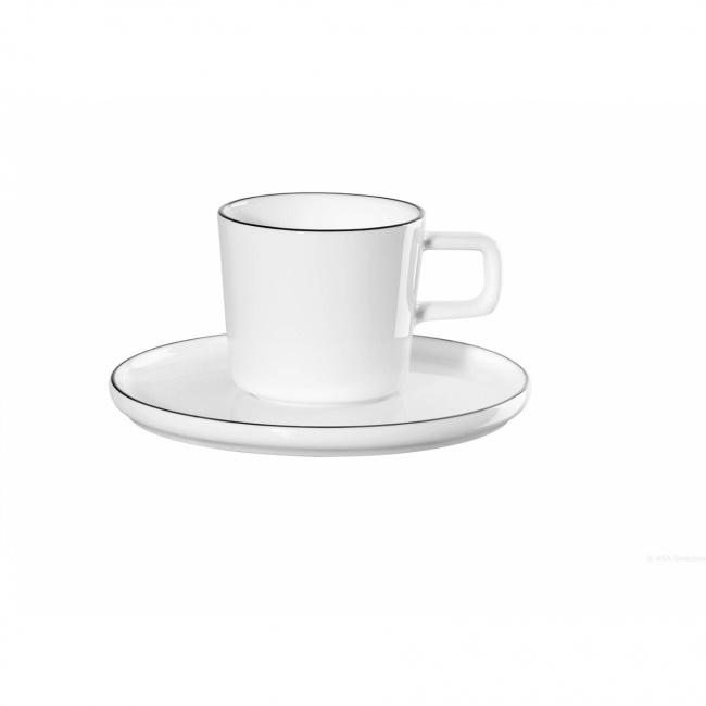 Filiżanka ze spodkiem a'Table Oco Ligne 80ml do espresso