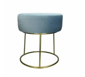 Puf niebieski ze złotą podstawą 35cm