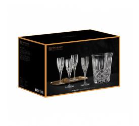 Cooler + 4 kieliszki do szampana Noblesse