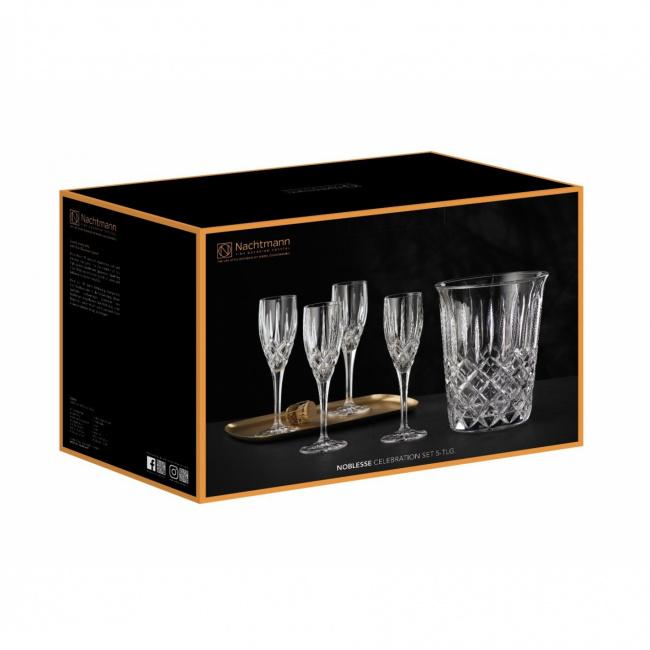 Cooler + 3 kieliszki do szampana Noblesse