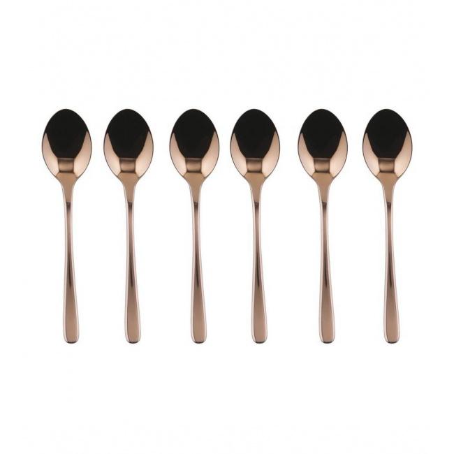 Komplet 6 łyżeczek do espresso Taste copper