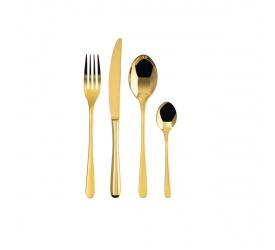Zestaw sztućców Taste 24 elementy (6 osób) gold