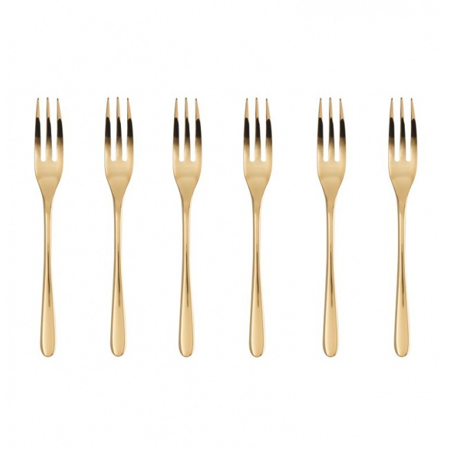 Komplet 6 widelczyków Taste gold