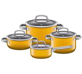 Zestaw garnków Fusiontec Mineral 8 elementów żółty