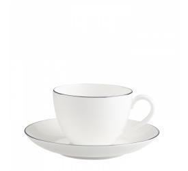 Filiżanka ze spodkiem Anmut Platinum 200ml do kawy