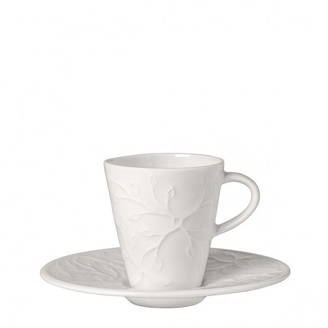 Filiżanka ze spodkiem Caffe Club Floral Touch 100ml do espresso