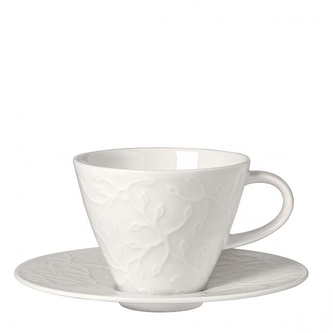 Filiżanka ze spodkiem Caffe Club Floral Touch 220ml do kawy