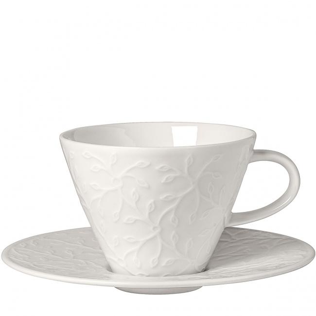 Filiżanka ze spodkiem Caffe Club Floral Touch 390ml śniadaniowa