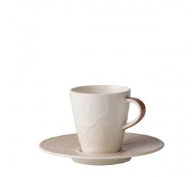 Filiżanka ze spodkiem Caffe Club Floral Touch of Hazel 100ml do espresso
