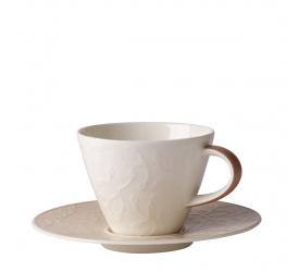 Filiżanka ze spodkiem Caffe Club Floral Touch of Hazel 220ml do kawy