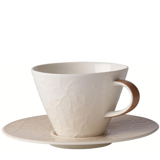 Filiżanka ze spodkiem Caffè Club Floral Touch of Hazel 390ml śniadaniowa