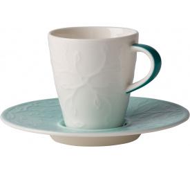 Filiżanka ze spodkiem Caffe Club Floral Touch of Ivy 100ml do espresso