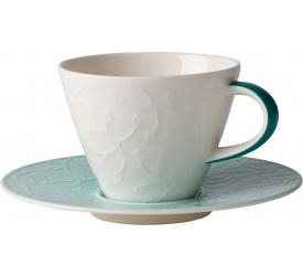Filiżanka ze spodkiem Caffe Club Floral Touch of Ivy 220ml do kawy