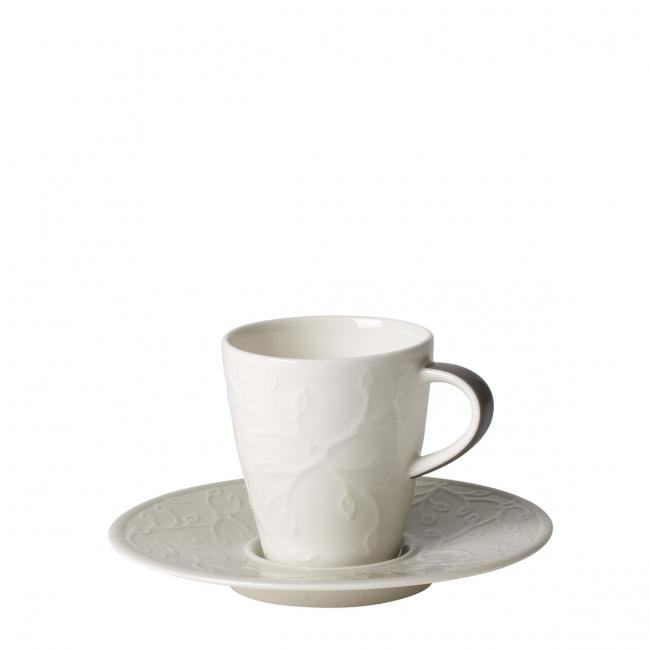 Filiżanka ze spodkiem Caffe Club Floral Touch of Smoke 100ml do espresso