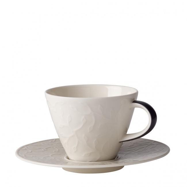 Filiżanka ze spodkiem Caffé Club Floral Touch of Smoke 220ml do kawy