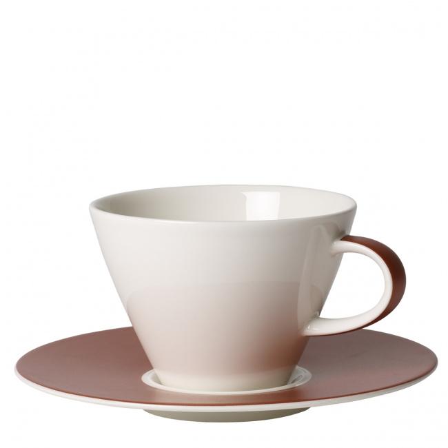 Filiżanka ze spodkiem Caffe Club Uni Oak 390ml śniadaniowa