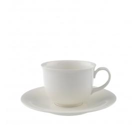 Filiżanka ze spodkiem Home Elements 300ml do kawy