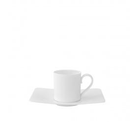 Filiżanka ze spodkiem Modern Grace 80ml do espresso