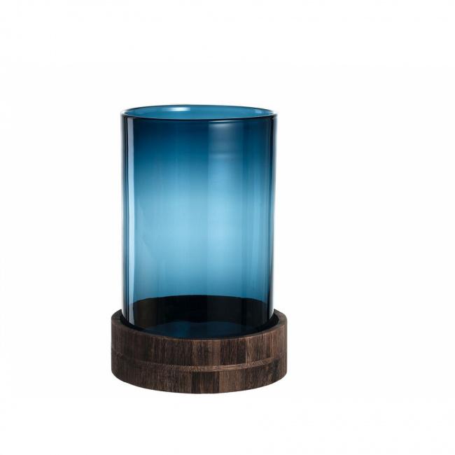 Lampion Terra z podstawą 34cm niebieski