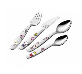 Komplet sztućców dla dzieci Hello Kitty 4 elementy