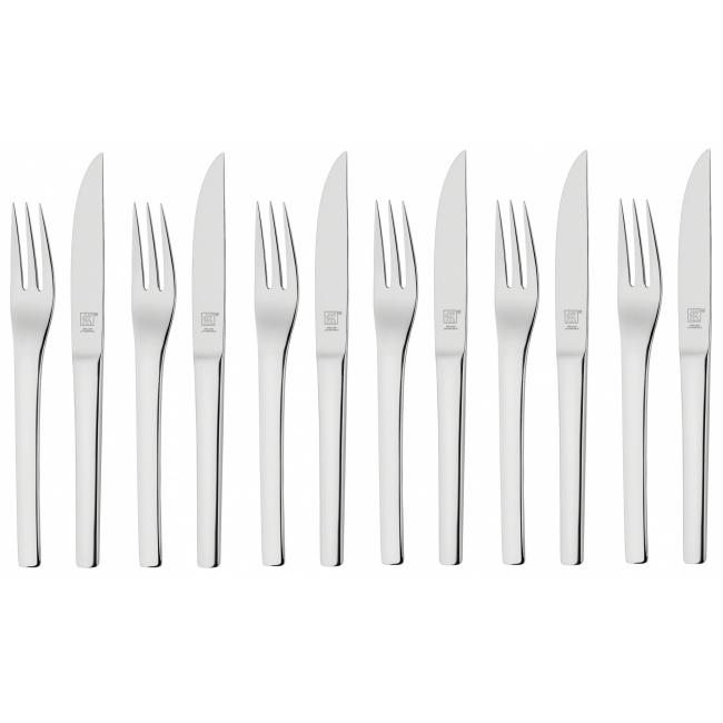 Zestaw sztućców do steków 12 elementów (dla 6 osób)