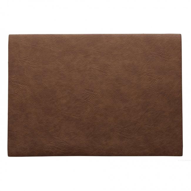 Podkładka Vegan leather 46x33cm karmelowa