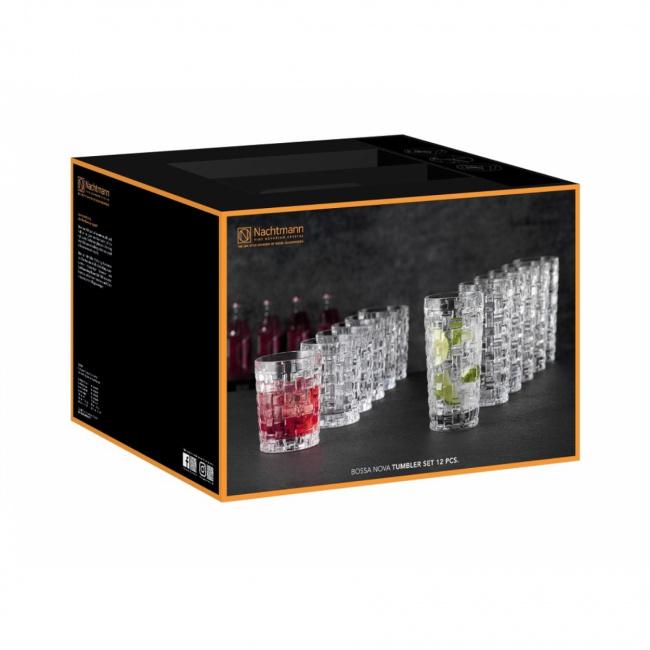 Komplet 12 szklanek Bossa Nova