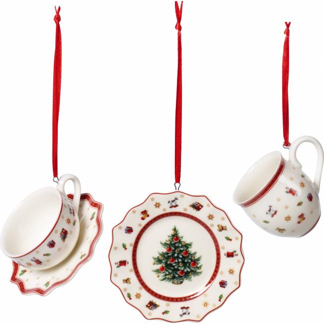 Komplet 3 zawieszek Toy's Delight Decoration 6,3cm zastawa stołowa