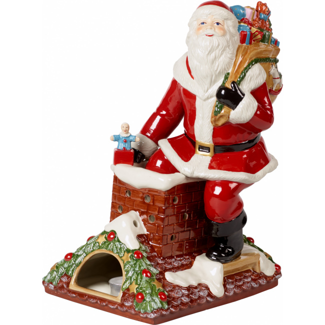 Lampion z pozytywką Christmas Toys Memory 32cm Św.Mikołaj