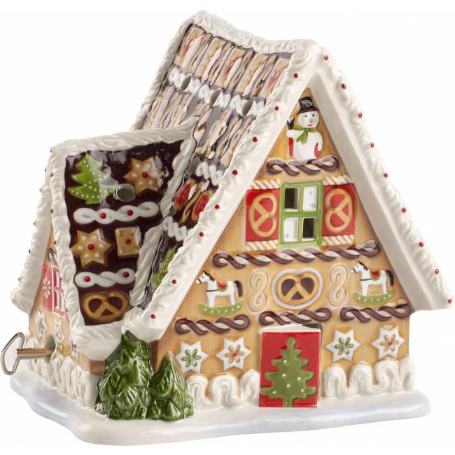 Lampion z pozytywką Christmas Toys Piernikowy domek