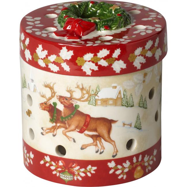 Lampion Pudełko Christmas Toys 16x20cm mikołaj