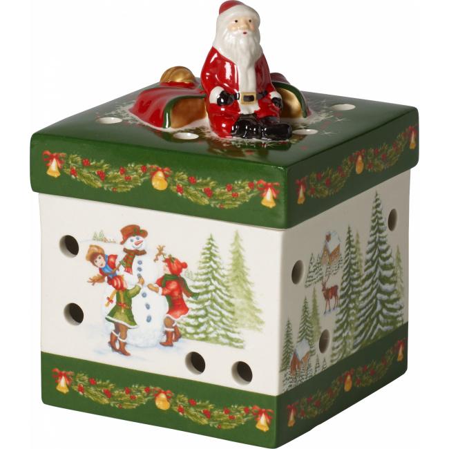 Lampion Pudełko Christmas Toys 9x13cm mikołaj