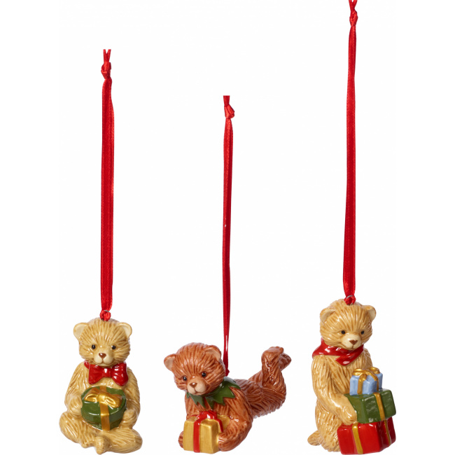 Komplet 3 zawieszek Nostalgic Ornaments misie