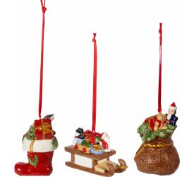 Komplet 3 zawieszek Nostalgic Ornaments prezenty
