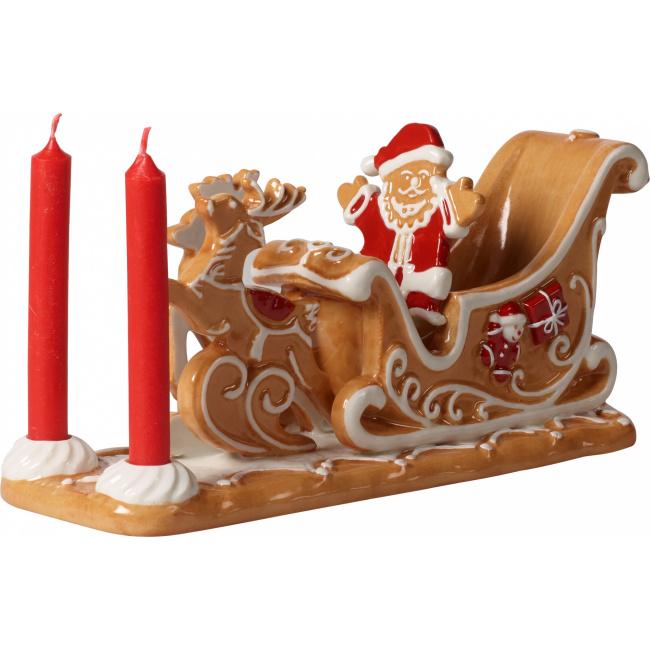 Świecznik Zaprzęg Mikołaja Winter Bakery Decoration 23x10cm
