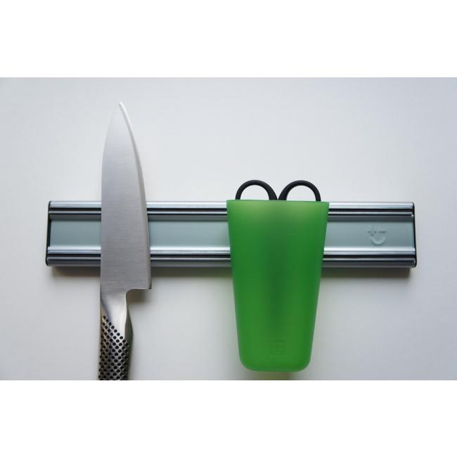 Listwa magnetyczna zielona 30cm lustrzana